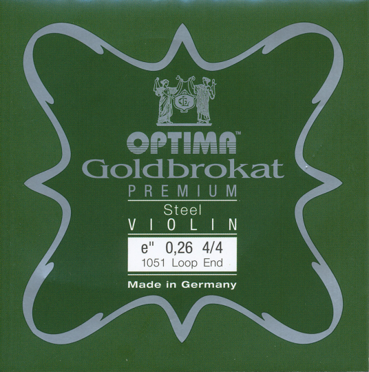 Optima Goldbrokat Premium E (Loop End) 26 - violin