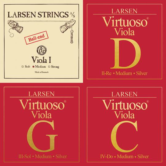 LARSEN Virtuoso Viola SATZ, A-Saite Kugel, medium
