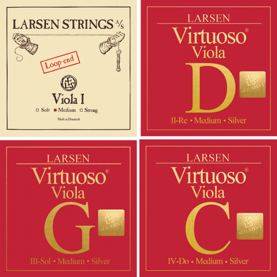 LARSEN Virtuoso Soloist Viola SATZ, A-Saite Schlinge, medium
