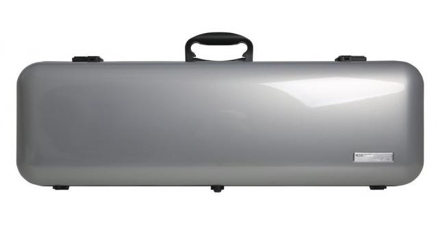 GEWA VIOLIN CASE AIR 2.1, Silver metallic high gloss