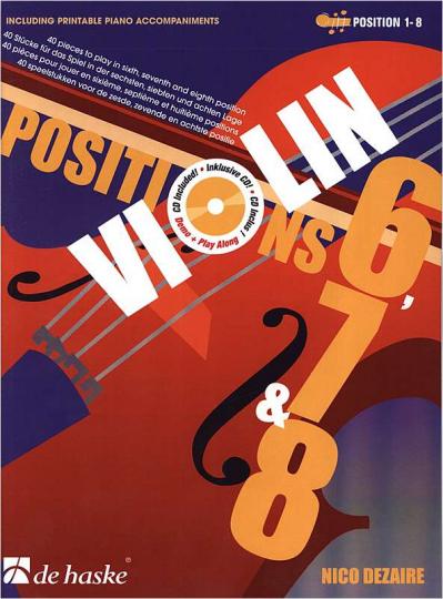 VIOLIN POSITIONS 6, 7 + 8 mit  Audio-CD