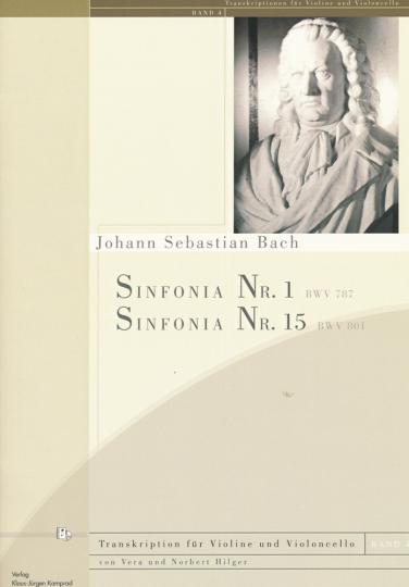 Bach, Sinfonia, C-dur, BWV 787; h-moll BWV 801