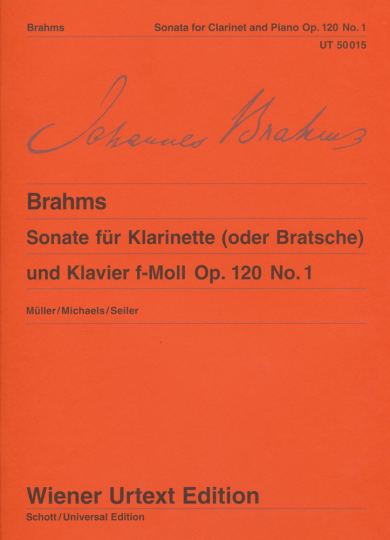 Brahms, Sonate für Bratsche und Klavier, F-Moll, op. 120, Nr. 1