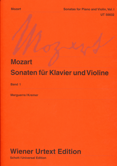 Mozart, Sonaten für Klavier und Violine