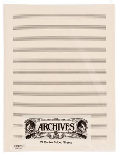 Papier à musique pages doubles 12 portées - 24 feuilles