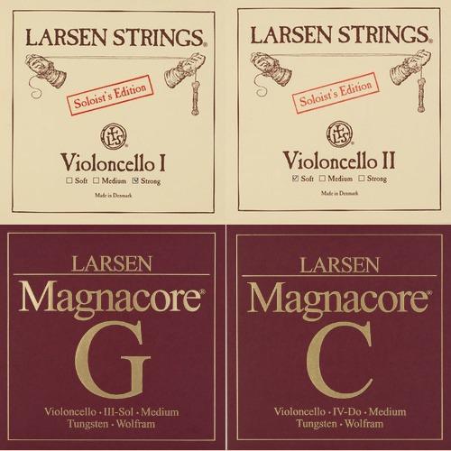 Larsen Soloist / Magnacore Satz Cellosaiten, medium