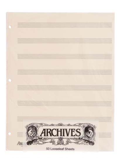 Papier à musique 8 portées - 50 feuilles