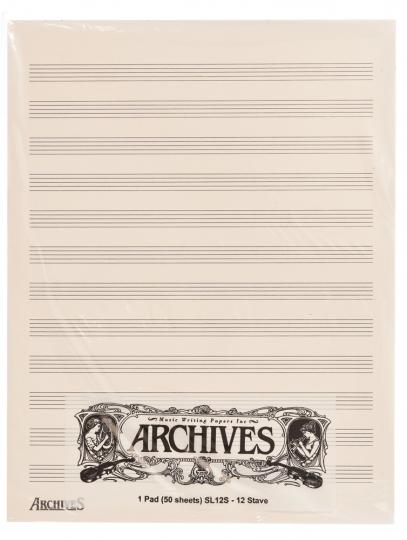 Bloc musique 12 portées - 50 feuilles