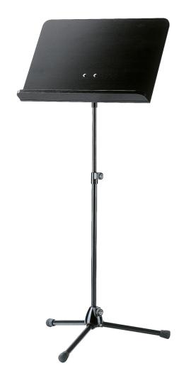 K&M - Orchesternotenpult 118/1 Holzplatte schwarz / Stativ schwarz