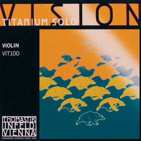 THOMASTIK Vision TITANIUM SOLO Violinsaiten SATZ, mittel