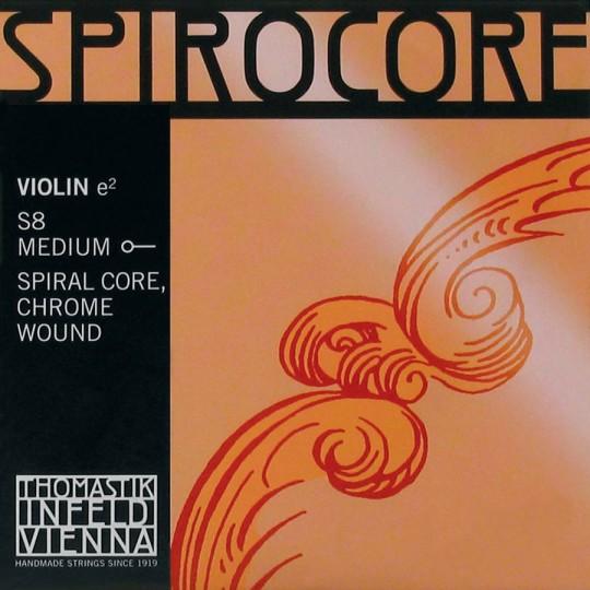 THOMASTIK Spirocore Violinsaite E mit Kugel Chrom mittel