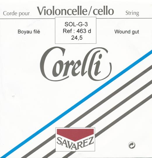 CORELLI Darm Cellosaite G 24 1/2 Silber/Wolfram