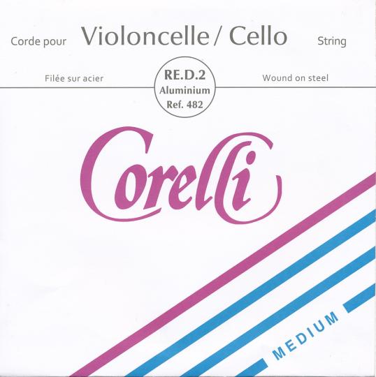 CORELLI Stahl Cellosaite D Silber, mittel
