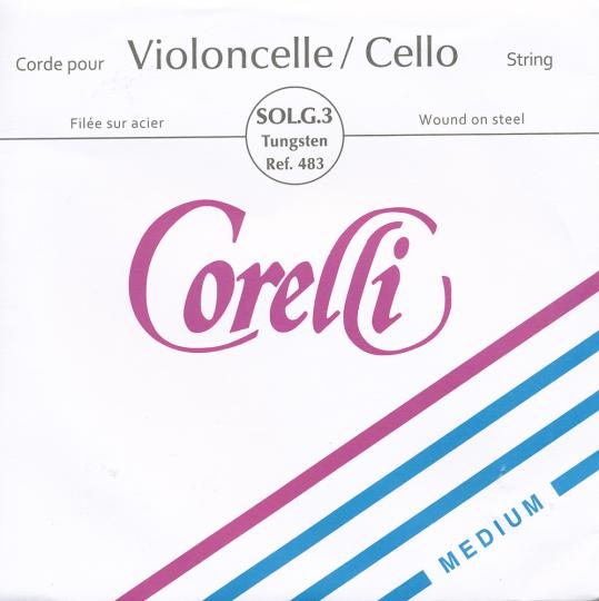 CORELLI Stahl Cellosaite G Silber/Wolfram, mittel