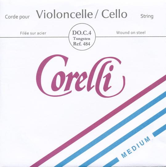 CORELLI Stahl Cellosaite C Silber/Wolfram, mittel