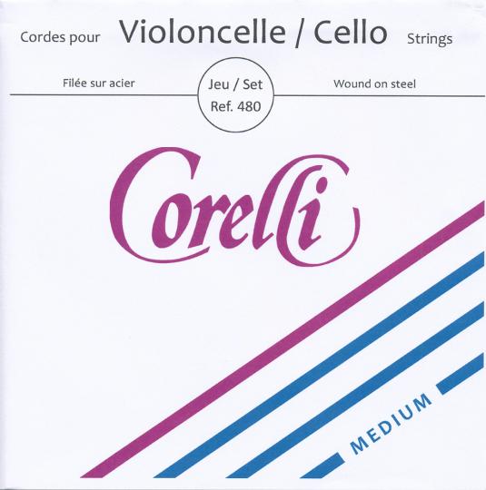 CORELLI Stahl Cellosaiten SATZ, mittel