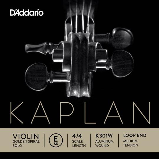 KAPLAN Golden-Spiral Solo Violinsaite E mit Schlinge soft