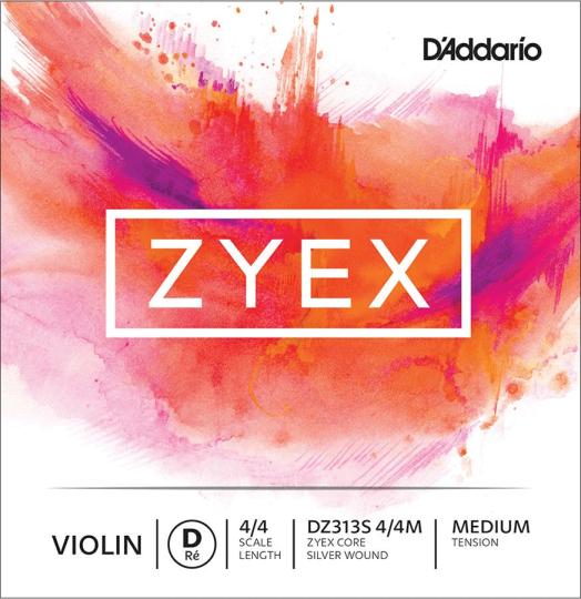 D´ADDARIO Zyex Violinsaite D Silber, medium