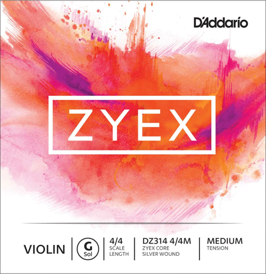 D´ADDARIO Zyex Violinsaite G, medium