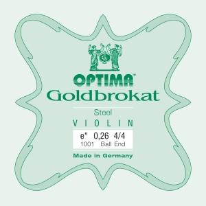 OPTIMA Goldbrokat Violinsaite E mit Kugel 26