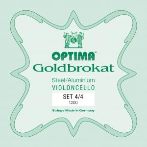 OPTIMA Goldbrokat Cellosaiten SATZ, mittel