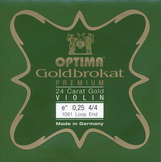 OPTIMA Goldbrokat 24 K Gold Premium Violinsaite E mit Schlinge