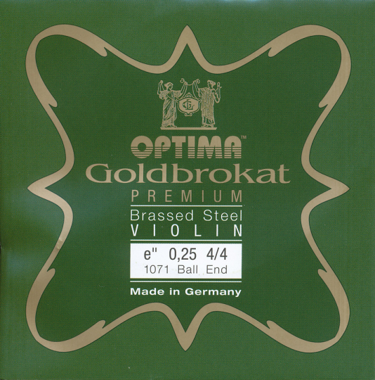 OPTIMA Goldbrokat Premium Brassed Violinsaite E mit Kugel 25