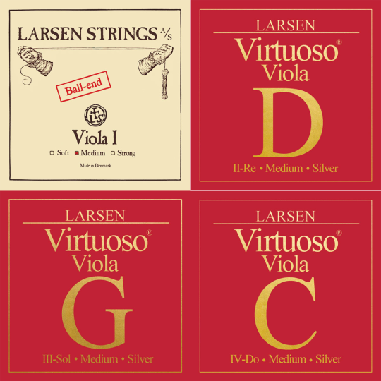LARSEN Virtuoso Violasaiten SATZ mit A Kugel, medium