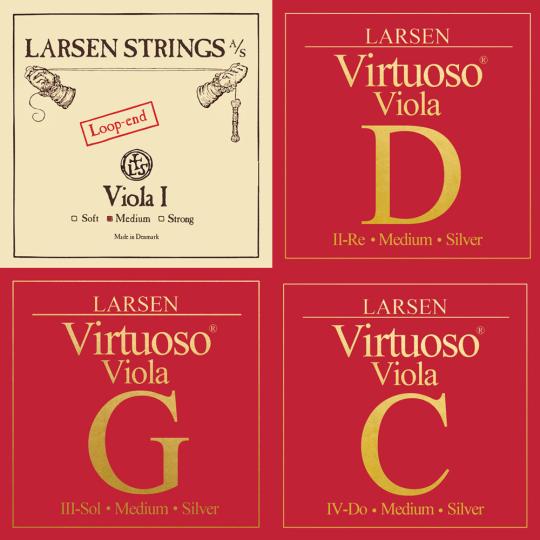 LARSEN Virtuoso Violasaiten SATZ mit A Schlinge, medium