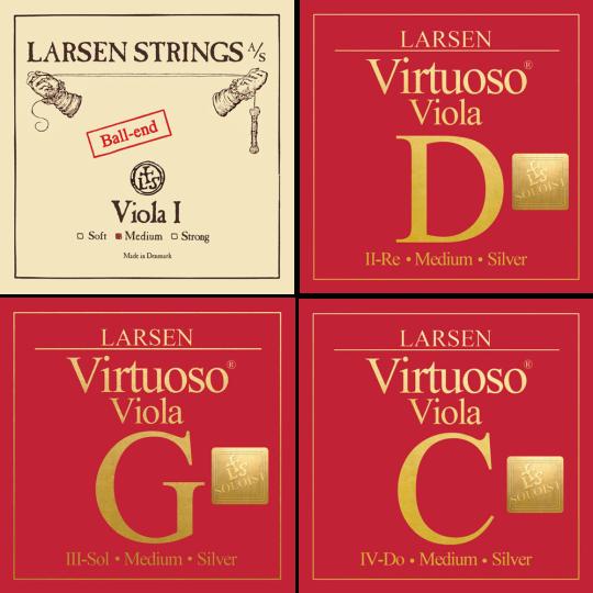 LARSEN Virtuoso Soloist Violasaiten SATZ, A Kugel, medium