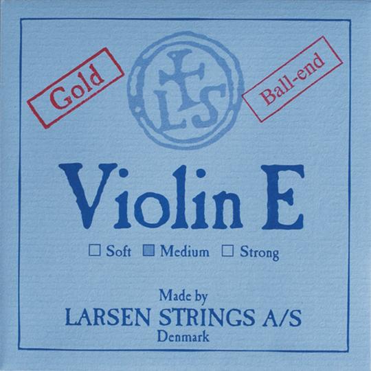 LARSEN Violinsaite E Gold mit Schlinge
