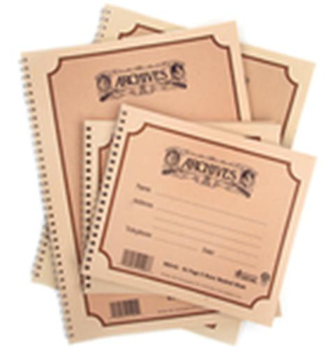 Spiralbücher mit 12 Notenbalken -Format 229x305mm  48 Blatt