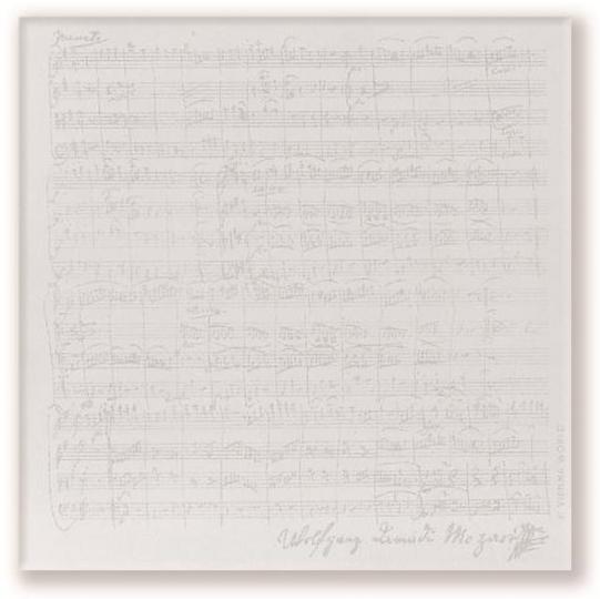 Notizblock Mozart