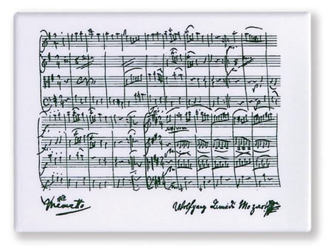 Magnet mit Motiv, Mozart