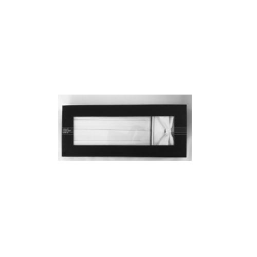 Kummerbund-Set, Polyester weiß/weiß