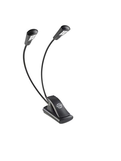 K & M Notenpultleuchte »Double4 LED FlexLight« - schwarz