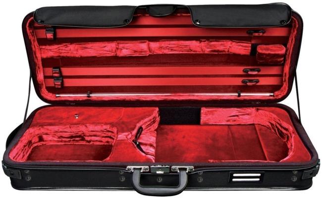 GEWA Strato de Luxe Kofferetui Viola schwarz / rot