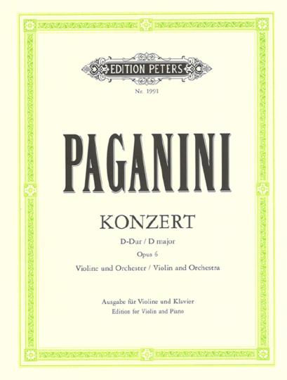 Paganini, Konzert Nr. 1 D-Dur, op. 6