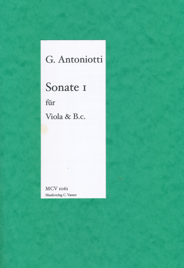 Giorgio Antoniotti, 1.Sonate