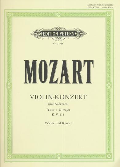 Mozart, Violin-Konzert Nr. 2, D-dur, K.V. 211