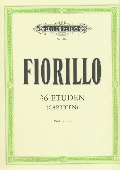 Fiorillo, 36 Etüden, Violine solo