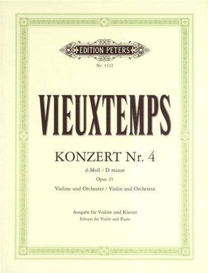 Vieuxtemps, Violinkonzert Nr. 4 , op. 31