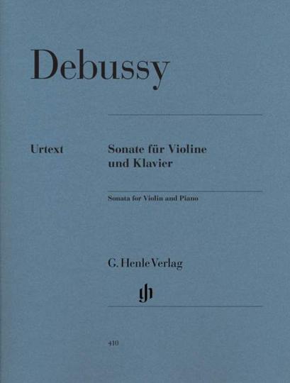 Claude Debussy Sonate für Violine und Klavier, g-moll