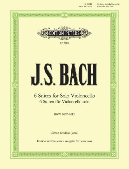Bach, Suiten für Violoncello solo (Ausgabe für Viola solo)