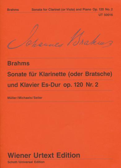Brahms, Sonate für Bratsche und Klavier, Es-Dur, op. 120, Nr. 2