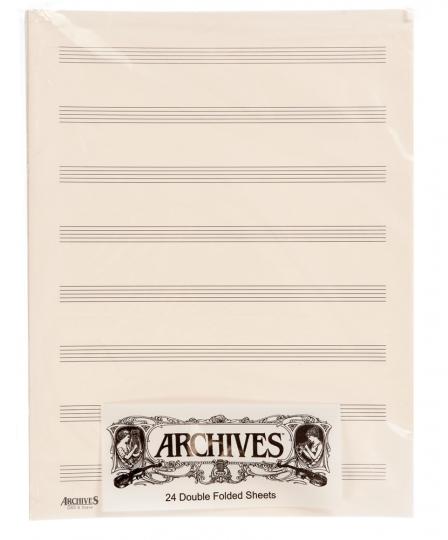Doppelseiten Notenblätter mit 8  Notenbalken - 24 Blatt