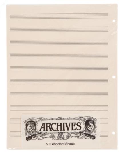 Lose Notenblätter mit 10 Notenbalken - 50 Blatt