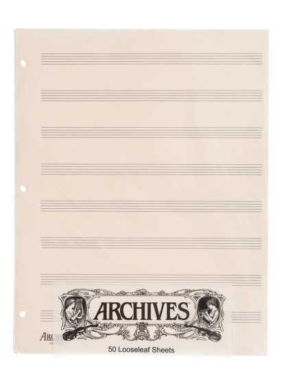 Lose Notenblätter mit 8  Notenbalken - 50 Blatt