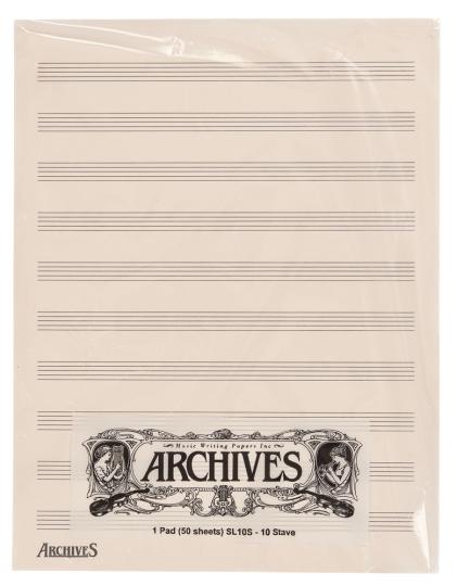Manuskript Notenblöcke mit 10 Notenbalken - 50 Blatt