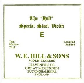 THE Original Hill Violinsaite E mit Kugel